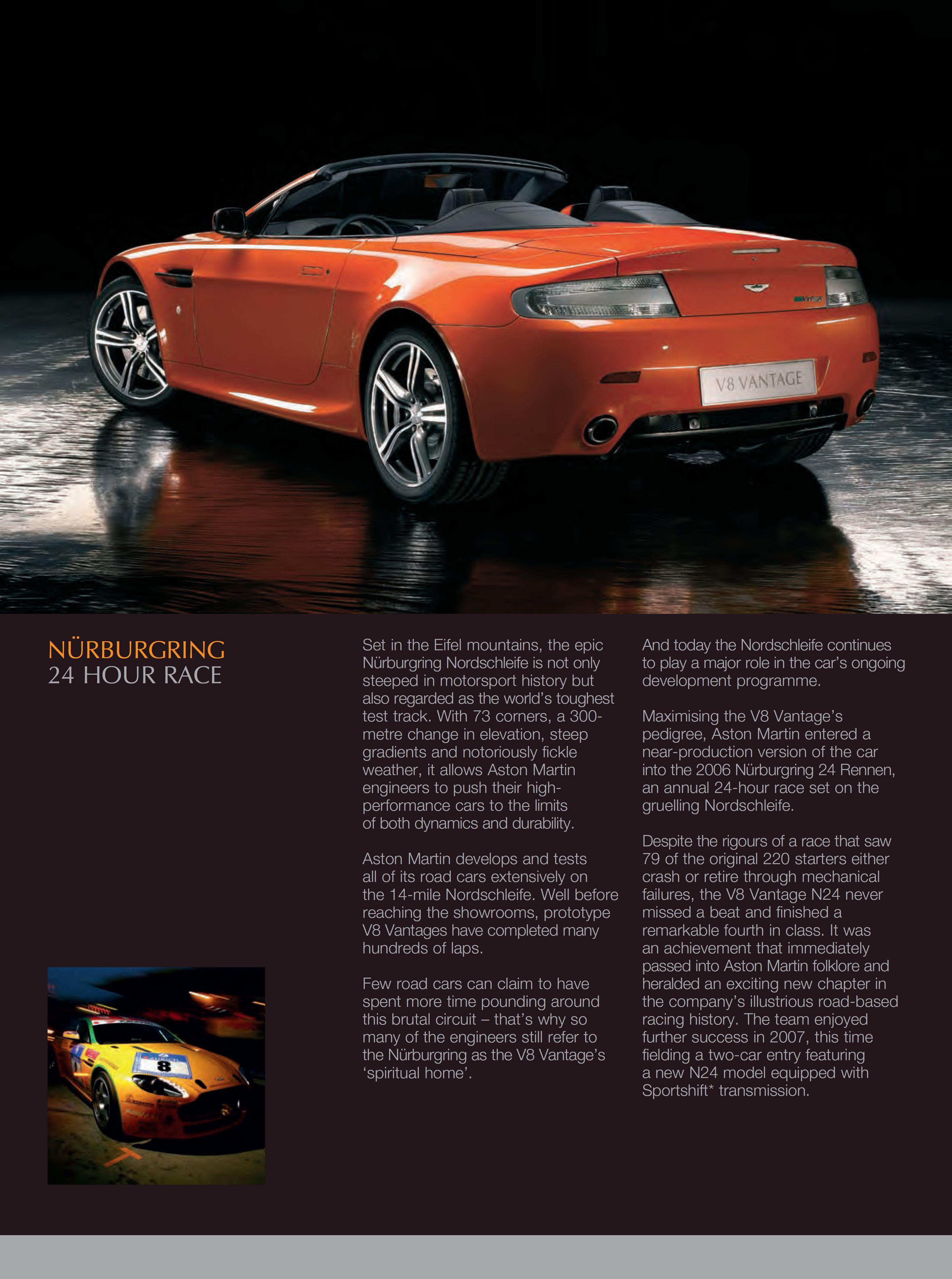 2007 Aston Martin V8 Vantage N400 brochure