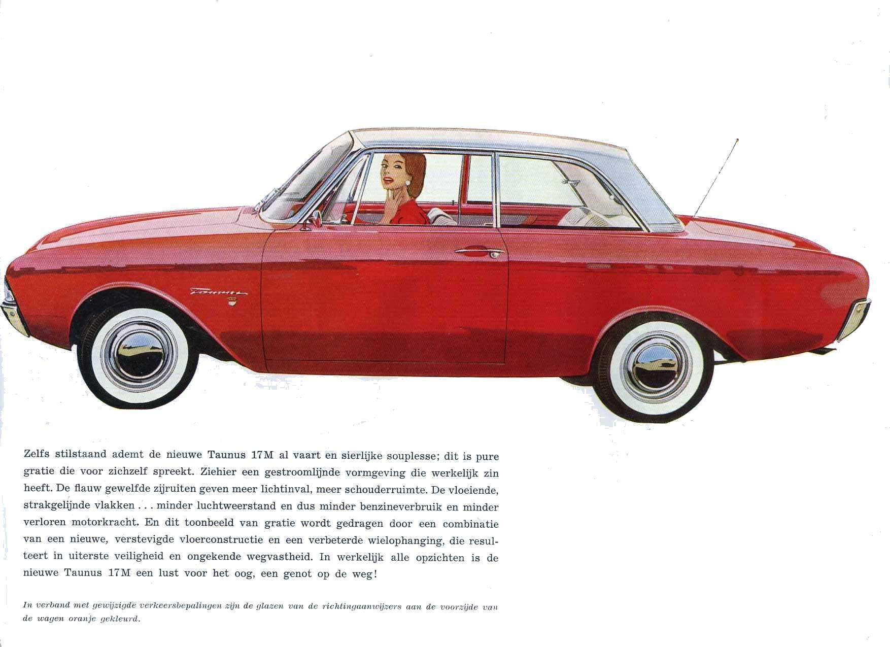 1961 ford taunus 17m brochure