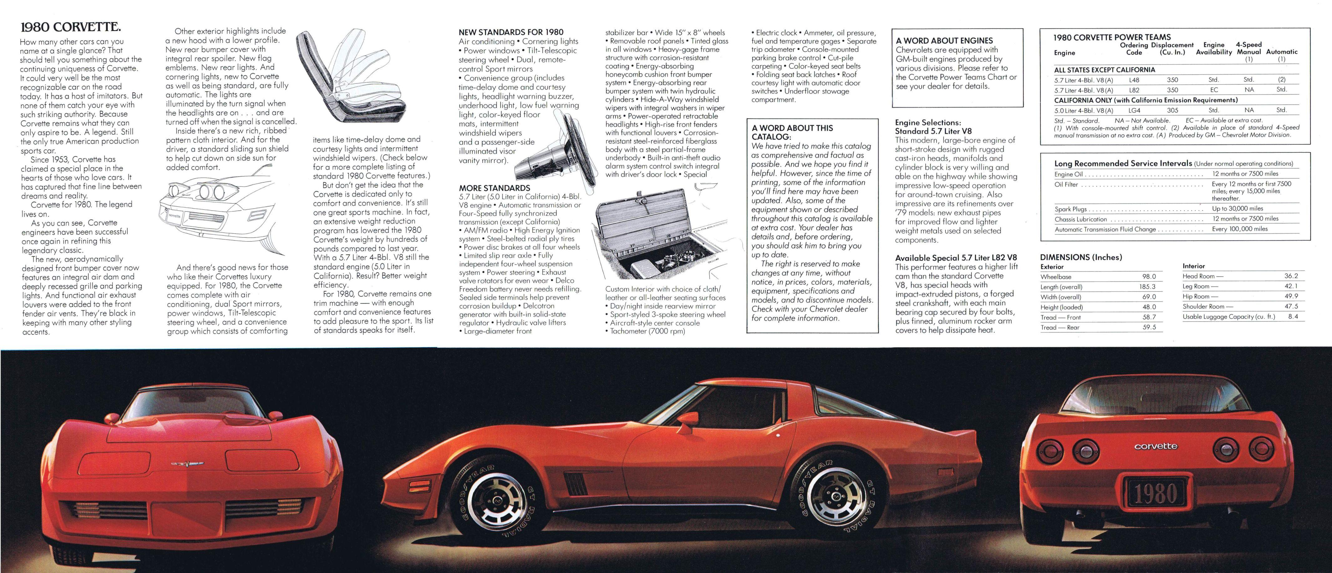 1980 Chevrolet Corvette brochure